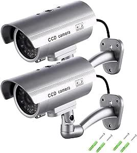 Dummy Kamera Gefälschte Monitor Wachungskamera Virtuelle Kamera Mit Wettergeschütztes Sicherheitskamera Für Den Außen Und Innenbereich 2 Pack Baumarkt