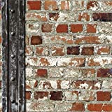 Muriva Just Like It Roter Ziegelstein Holzbalken Kunst Steineffekt Tapete J71508