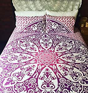 housse de couette r versible couvre lit couvre lit motif mandala coton housse de couette hippie. Black Bedroom Furniture Sets. Home Design Ideas