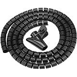 Bewinner Flexible Spiral Tubing Cable Organizer Wire Wrap Cord Protector Wire storage tube Spiraalwikkelbuis met clip voor he
