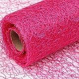 Schnoschi Dekostoff pink, Rolle 9 m x 30 cm, Tischläufer, Dekonetz, Tischband, Netzstoff, Textil-Netzgewebe