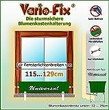 Vario-Fix Universal Haltebügel für 12cm Blumenkasten mit 115cm Spannstange