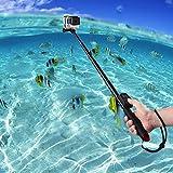 COOSA Wasserdichter Selfie-Stick mit 36-110cm L�nge inkl. Stativ und Bluetooth Fernbedienung f�r Sport Action Kameras z.B. Gopro Hero/Canon/Nikon/Sony sowie Handys, mit Zubeh�r-Set (rot) Bild