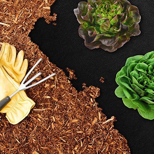 casa pura Unkrautvlies | Gartenvlies mit Hoher Stärke: 150g/m² | effiziente Unkrautsperre | feuchtigkeitsdurchlässig | Viele Größen