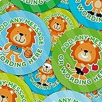 Graphic Flavour Funny Sporty Lions Personalised, Custom Sticker Labels, Children, Parents, Teachers