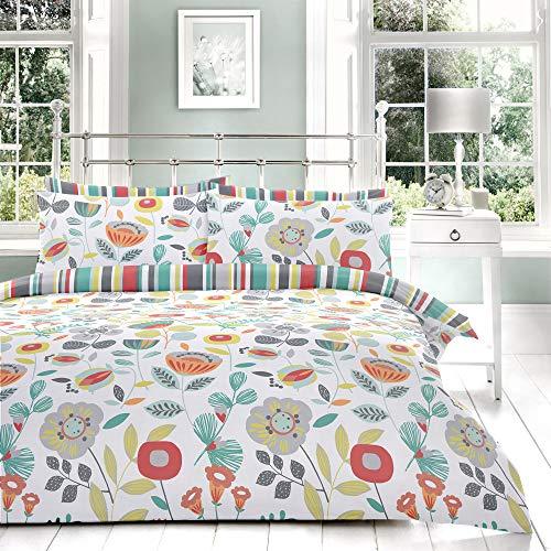 Fusion Finchley Parure de lit 52% Polyester, 48% Coton, Multicolore, Double