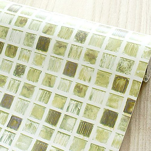 LoveFaye Self-Adhesive Shelf Liner Removable Contact Paper for Covering Apartment Kitchen Cupboards, Fashion Mosaic, 17.7 Inch By 9.8 Feet