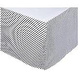 Oliver B Crib Skirt - Navy Stripes by Oliver B