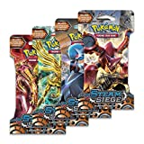 "Pokemon XY11 ""Steam Siege"" 4x Booster Pacchetti = 40 Carte Supplementari per Pokemon TCG (inglese)"