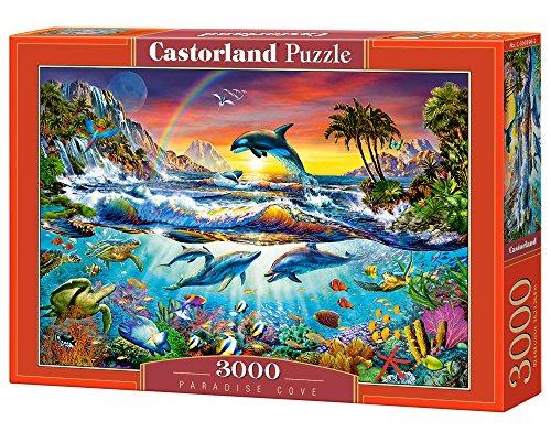 Castorland Paradise Cove 3000 pcs Puzzle - Rompecabezas (Puzzle Rompecabezas, Hada, Niños y Adultos, Niño/niña, 9 año(s), Interior)