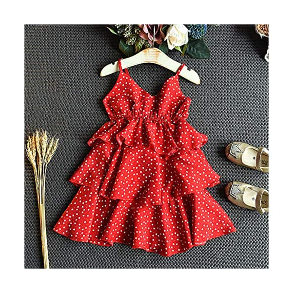JYC 2019 Baby Girl Dresses | Toddler Kids Clothes Sleeveless Love Printing Party Princess Dress (Red120/13) JYC - Baby Clothes Recommended Age:2-3 Years Label Size:7/90 Bust:52cm/20.47'' Length:53cm/20.87'' Height:85-90cm Recommended Age:3-4 Years Label Size:9/100 Bust:54cm/21.26'' Length:55cm/21.65'' Height:95-100cm Recommended Age:4-5 Years Label Size:11/110 Bust:56cm/22.05'' Length:58cm/22.83'' Height:105-110cm 4