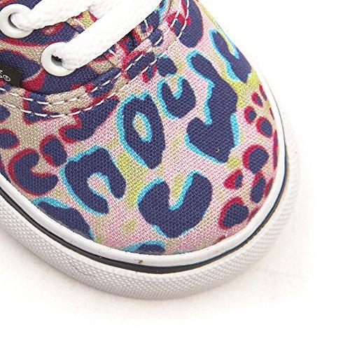 Vans T Authentic, Baskets mode mixte bébé (Leopard) Multi / True White