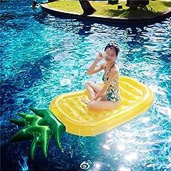ZXH Relajación inflable de la diversión del juguete de la natación del ocio del flotador de la piscina de la piña (188 * 79cm)