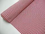 Confección Saymi Metraje 2,45 MTS Tejido Vichy, Cuadro pequeño 5x5 mm. Color Rojo, con Ancho 2,80 MTS.