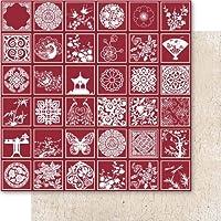 Ruby Rock-It Miscelanea, carta stagnola, motivo orientale