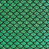 Fabulous Fabrics Folienjersey Schuppen groß – grasgrün