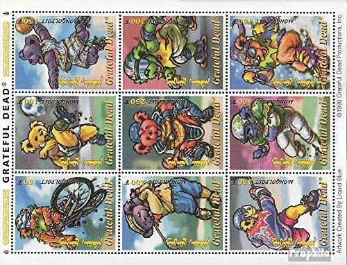 Prophila Collection Mongolei 2812-2820 Kleinbogen (kompl.Ausg.) 1998 Rockgruppe Grateful Dead (Briefmarken für Sammler) Comics