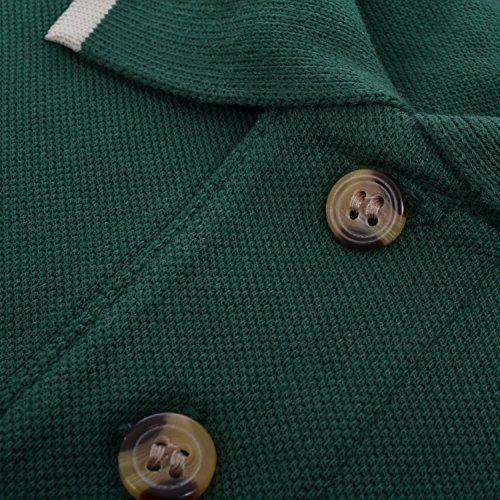 Hanes - Herren Poloshirt mit Kontrastsaum - kurzärmlig - Baumwolle - einfarbig Rot