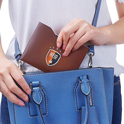 Tecboss 16 Pack Protezione RFID per Carte di Credito e Passaporto Blocco RFID 4 Custodie per Passaporto /& 12 Porta Carta di Identit/à /