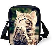 Hugs Idea Mini sac à bandoulière pour adolescentes et filles Motif chat