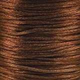 Cordon queue de rat en satin 2mm Rattail–Marron–5m
