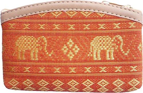 Pequeño Dinero Bolsa de algodón tejida con elefantes