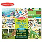 Melissa & Doug Reusable Sticker Pad-Habitats, Multi Color