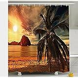Baño cortina de ducha impermeable y moho cortina de poliéster sombra , W180 x L180 cm