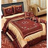 The Intellect Bazaar 7 Pc Dupian Luxury Designer Wedding Bedding Set With Filled Cushions And Bolsters