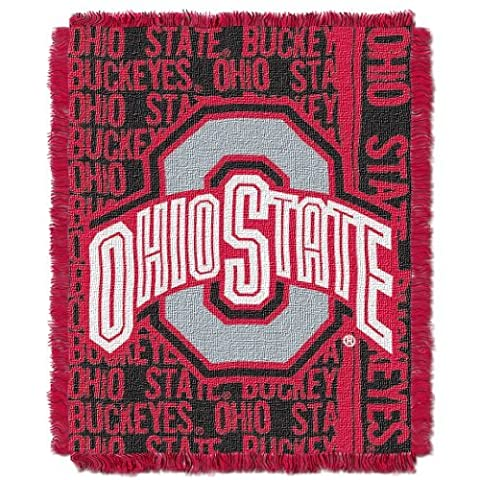 NCAA Ohio State Buckeyes 48 x 60-Inch Double Play Jacquard Triple Woven Throw by Northwest