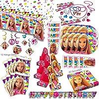 Barbie Sparkle Original Party Set XL 122-teilig für 8 Gäste Barbieparty Deko Partypaket