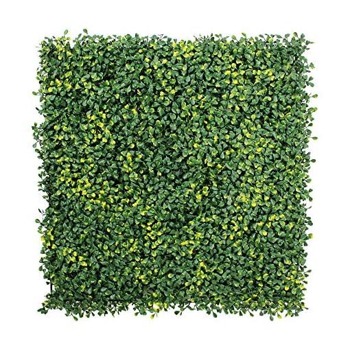 Piante Per Recinzioni Giardino.Uland 1 Mq Plastica Barriera Recinzione Siepe Di Bosso Artificiale