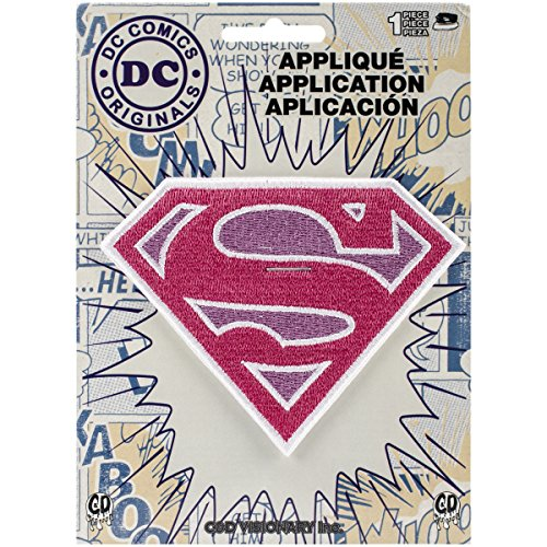 DC Comics Patch-Pink Sparkle Supergirl Logo 3.75