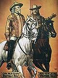 Artland Qualitätsbilder I Alu Dibond Bilder Alu Art 60 x 80 cm Menschen historische Persönlichkeiten Illustration Orange B9KD Buffalo Bill 1910