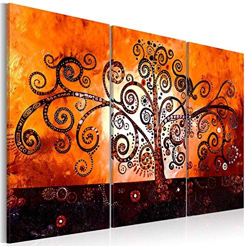 murando Cuadro en Lienzo 120x80 cm ! Tres colores a elegir - 3 Partes - Formato Grande - Impresion en calidad fotografica - Cuadro en lienzo tejido-no tejido - abstraccion arbol a-A-0106-b-g 120x80 cm