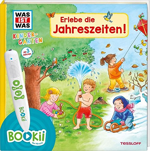BOOKii® WAS IST WAS Kindergarten Erlebe die Jahreszeiten!: Frühling, Sommer, Herbst und Winter - erstes Wissen ab 3 (BOOKii / Antippen, Spielen, Lernen) - Jahreszeiten-frühling