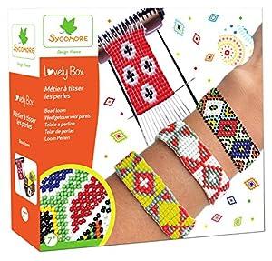 Sycomore- Kit de Pasatiempos creativos niños-Telar Perlas de rocalla-DIY-Lovely Box Collector-A Partir de 7 años-Sycomore-CRE22050, (CRE22050)