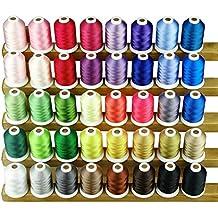 Simthreads 40 colores de poliéster hilo de bordar - 1000 Metros / Carrete
