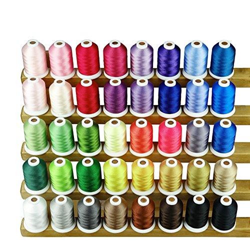 Simthread 40 Farben Polyester Stickgarn - 1,100