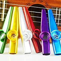 SINBLUE Set of 6 Colorful Metal Kazoo - A Good Companion for Guitar, Ukulele, Violin, Piano Keyboard(Great Gift for Kids Music Lovers,Kazoo Kid Trap Music)