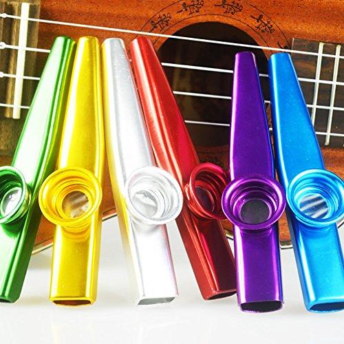 ccmart Juego de 6colores Metal Kazoo instrumentos musicales un buen compañero...