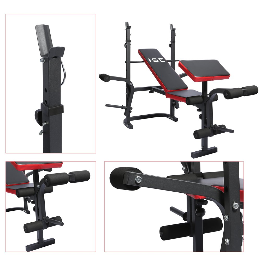 Ise Banc De Musculation Multifonction Réglable Pliable Inclinable