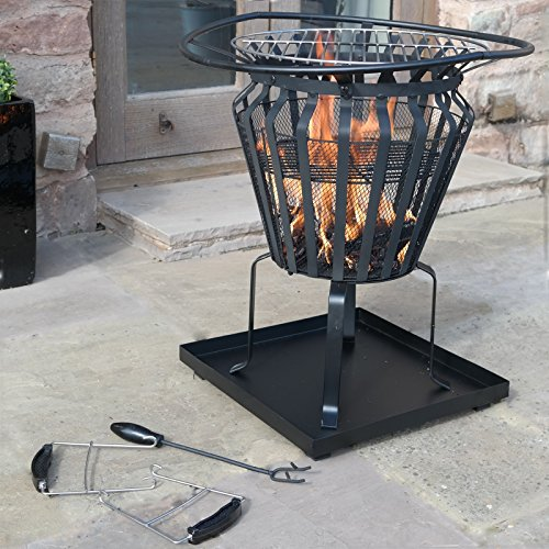Victoria Fire Basket Metal Outdoor Patio Log Burner Brazier Wood BBQ Heater Pit