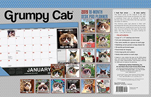 2019 Grumpy Cat 18-Month Desk Pad Planner: By Sellers Publishing por Grumpy Cat Limited