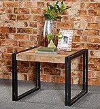 Couchtisch 60x60 Massiv Holz Mango Metall Industrie Design Möbel Loft Retro