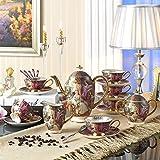 Chaoson Full Set Empress Painting Bone China Coffee Set Noble Porcelain Tea Cup Mug Ceramic Pot Jar Tray Set Drinkware for Wedding Gift