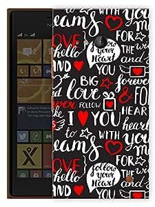 "Humor Gang Love Lover Doodle Printed Designer Mobile Back Cover For ""Nokia Lumia 730"" (3D, Matte Finish, Premium Quality, Protective Snap On Slim Hard Phone Case, Multi Color)"