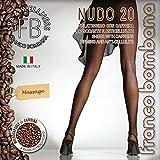 Franco Bombana Wellness COLLANT di Bellezza, Nudo 20 & Caffeina   Velatissimo con CAFFEINA Rassodante e Anticellulite - Calze da Donna, Colore Nero, Taglia III
