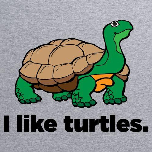 Turtles T-Shirt, Damen Grau Meliert