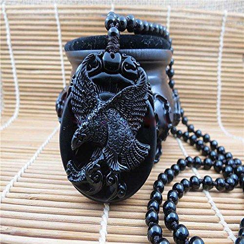 Suspension Soaring Eagle - ein Symbol der Macht - Natürliche Obsidian O-25 (Natürliche Symbol)